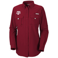 Texas A&M Aggies Columbia Women's Bahama Long Sleeve Button Down Shirt - Maroon