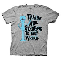 Rick And Morty Mr. Meeseeks Things Are Weird Adult Swim Unisex T-Shirts - Gray