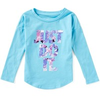 Nike Little Girls 2T-6X Flower Jams Long-Sleeve Tee | Dillards