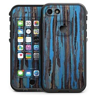 Abstract Wet Paint Dark Blues - iPhone 7 LifeProof Fre Case Skin Kit