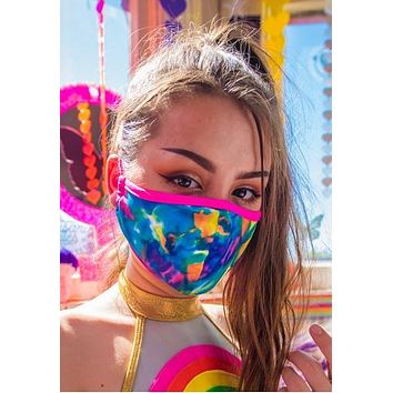Tie-Dye Tailored Face Mask With Filter - J Valentine FF554