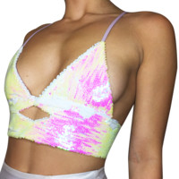 Iridescent Diamond Crop