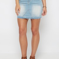 Vintage Frayed Jean Mini Skirt By Sadie Robertson x Wild Blue™ | Mini | rue21