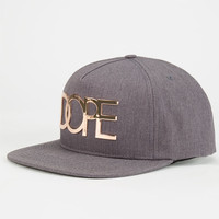 Dope Gold Plate Mens Snapback Hat Grey One Size For Men 24636111501