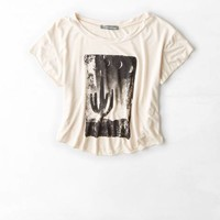 DON'T ASK WHY SWINGY CROPPED TEE
