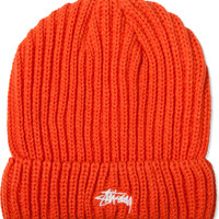 Stussy Orange Solid Color Cuff Beanie | HYPEBEAST Store. Shop Online for Men's Fashion, Streetwear, Sneakers, Accessories