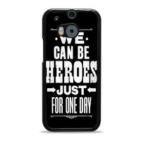 David Bowie Song Lyric Quote HTC One M8 Cases