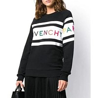 GIVENCHY Trending Women Casual Hot Embroidery Long Sleeve Sweater Sweatshirt