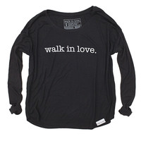 walk in love. Black Women's Flowy Longsleeve