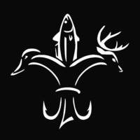 "Duck Fish Deer Fleur De Lis Die Cut Vinyl Decal Sticker 5"" White"