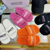 Balenciaga Political Campaign autumn and winter furry slippers shoes