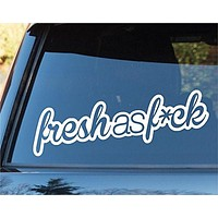 Fresh As Fuck Car Window Windshield Lettering Decal Sticker Decals Stickers