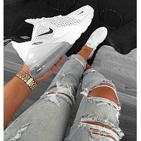 Nike Air Max 270 Trending Women Men Personality Air Cushion Sport Running Shoe