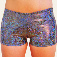 Holographic Booty Shorts Hot Pants by DancingTreeCreations on Etsy