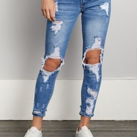Medium Blue Destroyed Low Rise Ankle Jegging | Jeggings | rue21