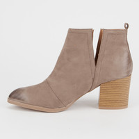 QUPID Side Slit Womens Booties | Boots & Booties