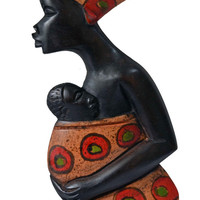 African Art, African American Art, Mother Africa, Wood Carving, Afrocentric Art, , African Woman, Tribal Art, Ethnic Art