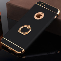 Luxury Ultra Thin Shockproof Armor plastic mobile Phone cases Cover coque Case For iPhone 5 5s SE 6 6s Plus s 5se with stand