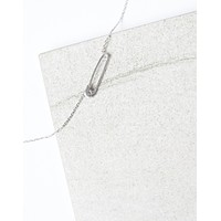 Dainty Safety Pin Necklace