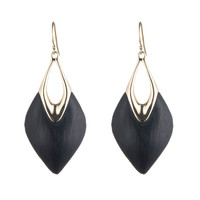 Alexis Bittar Lucite Liquid Metal Wire Earrings