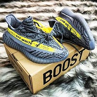 ADIDAS YEEZY 350 x OFF-WHITE Joint sports running shoes