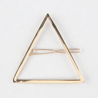 Full Tilt Metal Triangle Hair Clip Gold One Size For Women 27401162101
