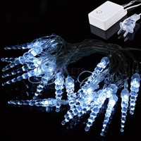 New Arrival 5M 20 LED Icicle String Lights New Year Christmas Xmas Wedding Party Led Fairy Lights SV009493|26601 = 1946503812