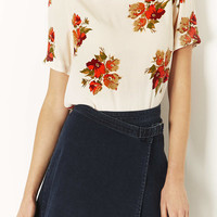 Floral Cut Out Back Blouse - New In This Week - New In - Topshop USA