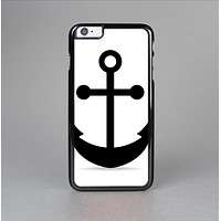 The Solid Black Anchor Silhouette Skin-Sert Case for the Apple iPhone 6 Plus