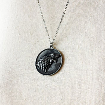 House Stark of Winterfell Crest Pendant Necklace - Game of Thrones Cosplay - Game of Thrones Jewelry - Winter is Coming - GoT jewellery