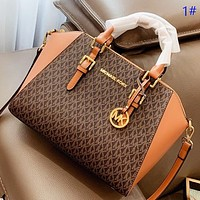 Hipgirls MK New fashion more letter print shoulder bag crossbody bag handbag 1#