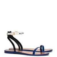 Tory Burch Leather Ankle-strap Flat Jelly Sandal