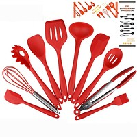 Set of 10 pcs Silicone Kitchen Cooking Utensils