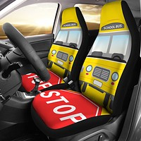 School Bus Driver Car Seat Covers