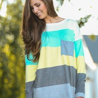 LOVE STITCH:Pocket Full of Sunshine Sweater-Lemon