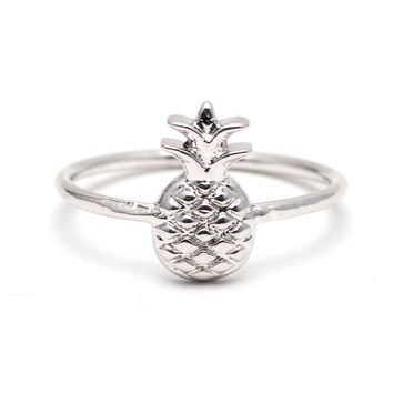 Pineapple Ring In Silver