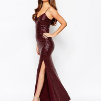New Look Sequin Strappy Maxi Dress