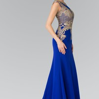 Royal blue evening gown  gls 1461
