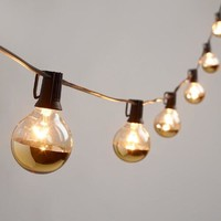 Gold Dipped Glass Orb 20 Bulb String Lights
