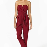 Sasha Jumpsuit - Wine
