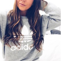 Fashion Print Round Neck Top Sweater Sweatshirt