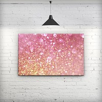 Unfocused Pink and Gold Orbs - Fine-Art Wall Canvas Prints
