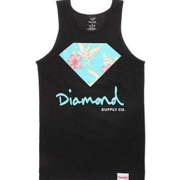Diamond Supply Co Chill Floral 14 Tank Top - Mens Tee - White -