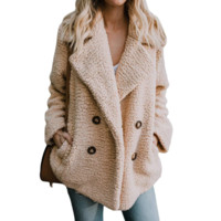 Button Long Sleeve Sweater Coat