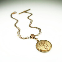Victorian Locket Watch Fob Gold Filled Antique 1900s Jewelry