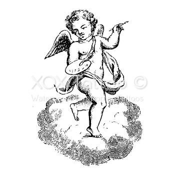 Angel Cherub Artist Waterproof Temporary Tattoos Lasts 3 to 4 days Choose Small, Medium or Large Sizes