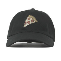 "Entree LS Because Pizza ""Dad Hat"" Ball Cap In Navy"