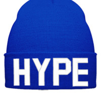 HYPE EMBROIDERY HAT - Beanie Cuffed Knit Cap
