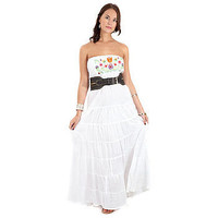 Mexico Embroidered Maxi Dress