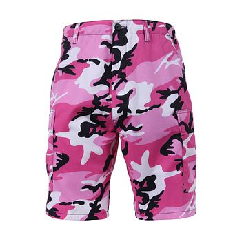 Rothco - Colored Pink Camo BDU Shorts